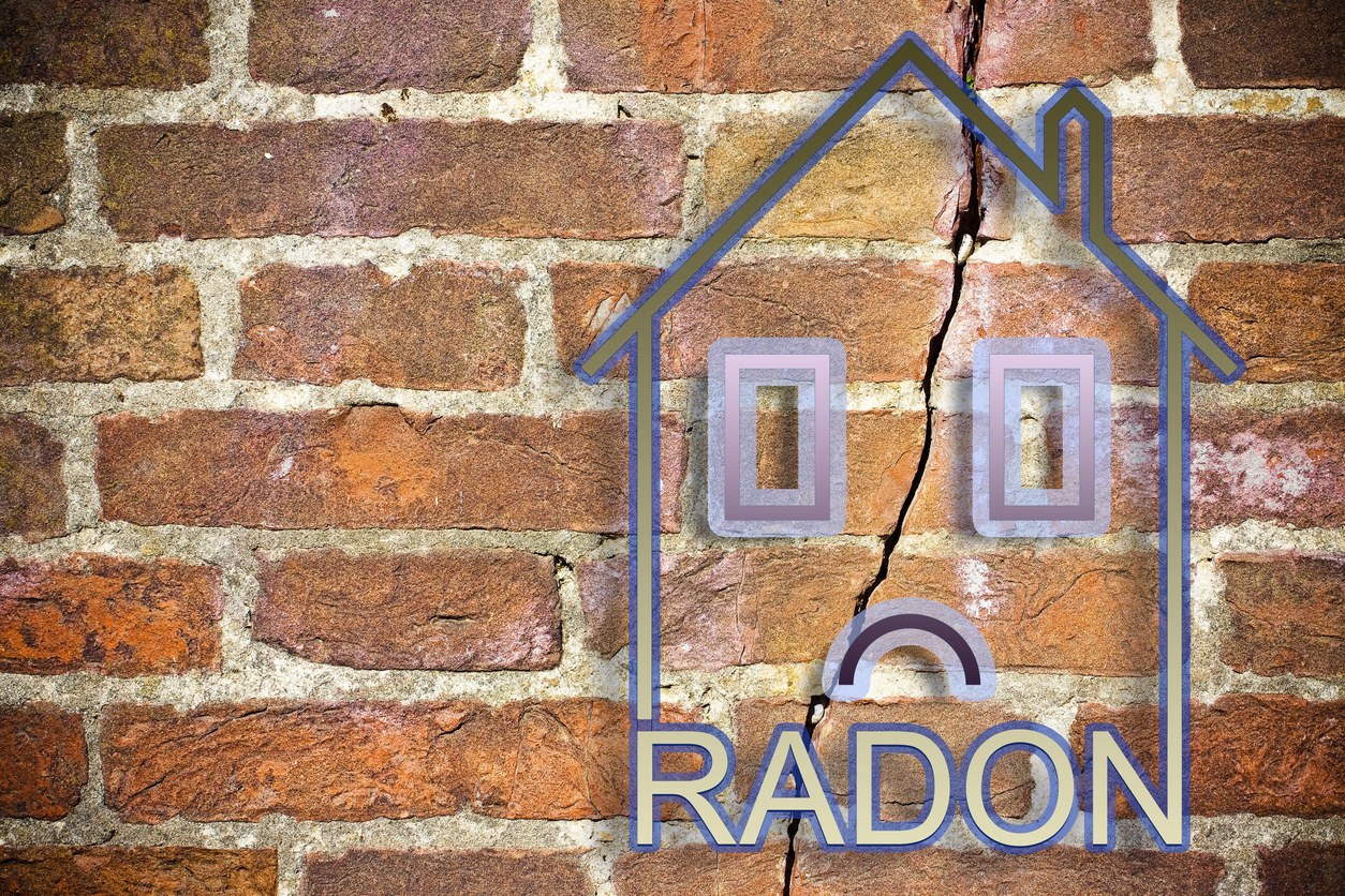 The danger of radon gas in our homes - concept image with copy space
